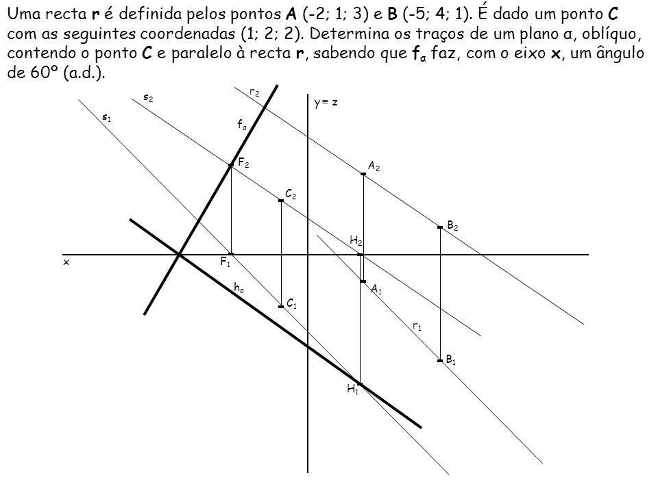 Uma recta r é definida pelos pontos A (-2; 1; 3) e B (-5; 4; 1)