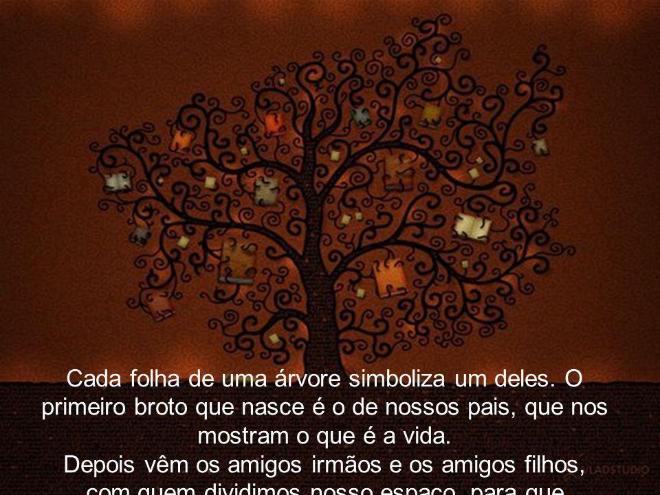 Cada folha de uma árvore simboliza um deles
