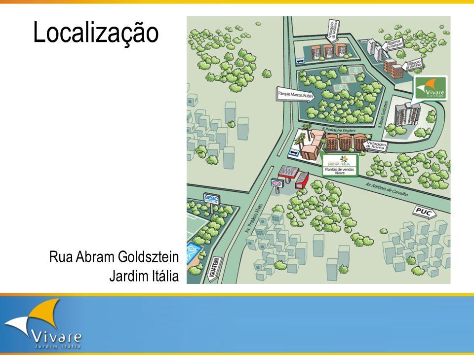 Localização Rua Abram Goldsztein Jardim Itália