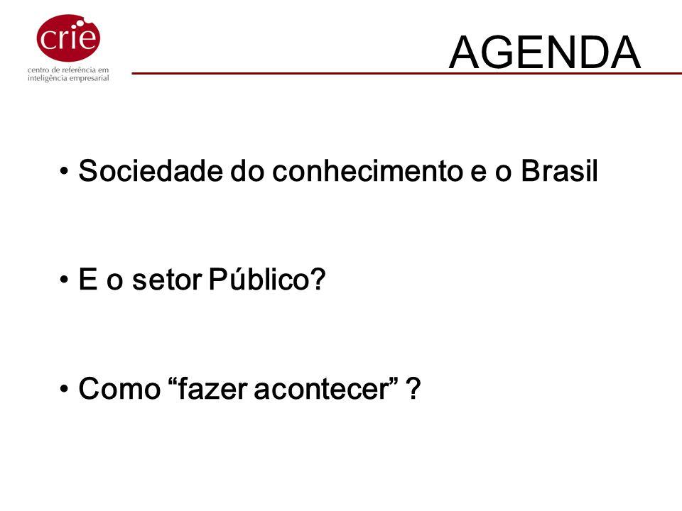AGENDA Sociedade do conhecimento e o Brasil E o setor Público