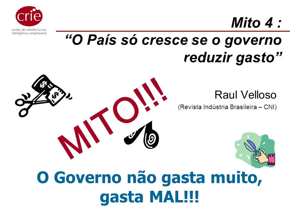 Mito 4 : O País só cresce se o governo reduzir gasto