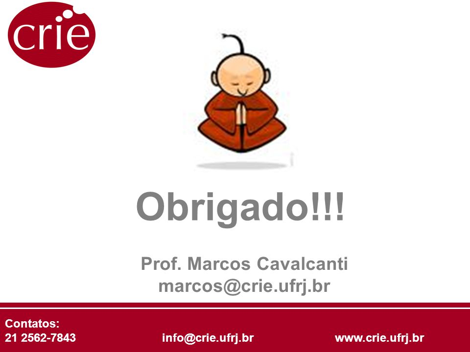 Prof. Marcos Cavalcanti marcos@crie.ufrj.br