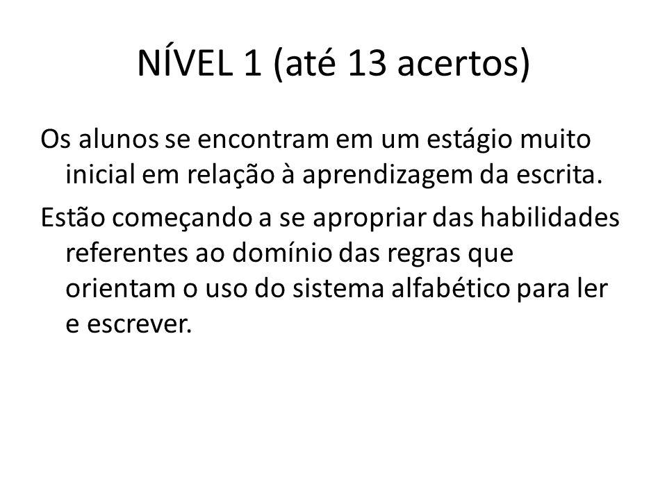 NÍVEL 1 (até 13 acertos)