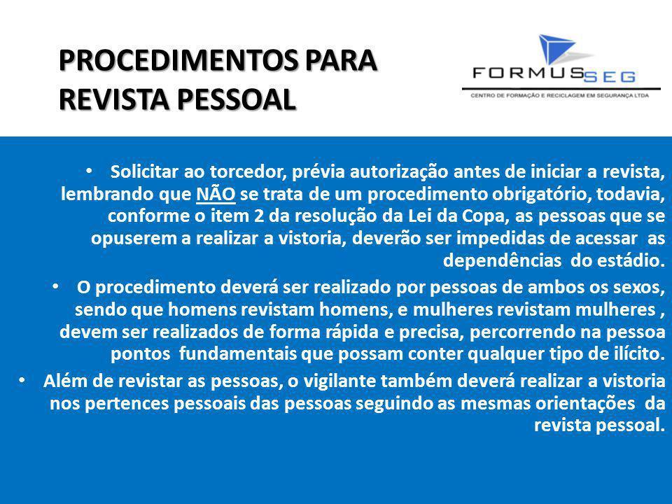 PROCEDIMENTOS PARA REVISTA PESSOAL