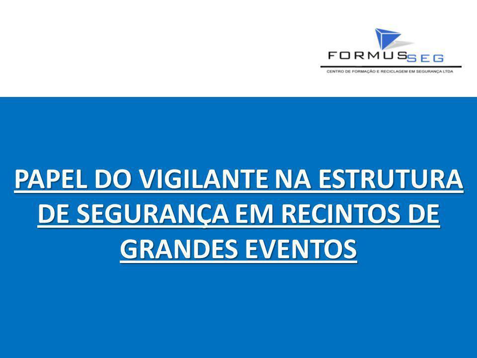 PAPEL DO VIGILANTE NA ESTRUTURA DE SEGURANÇA EM RECINTOS DE GRANDES EVENTOS