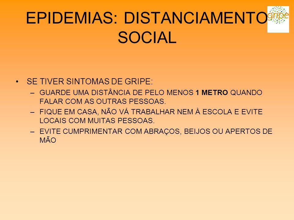EPIDEMIAS: DISTANCIAMENTO SOCIAL