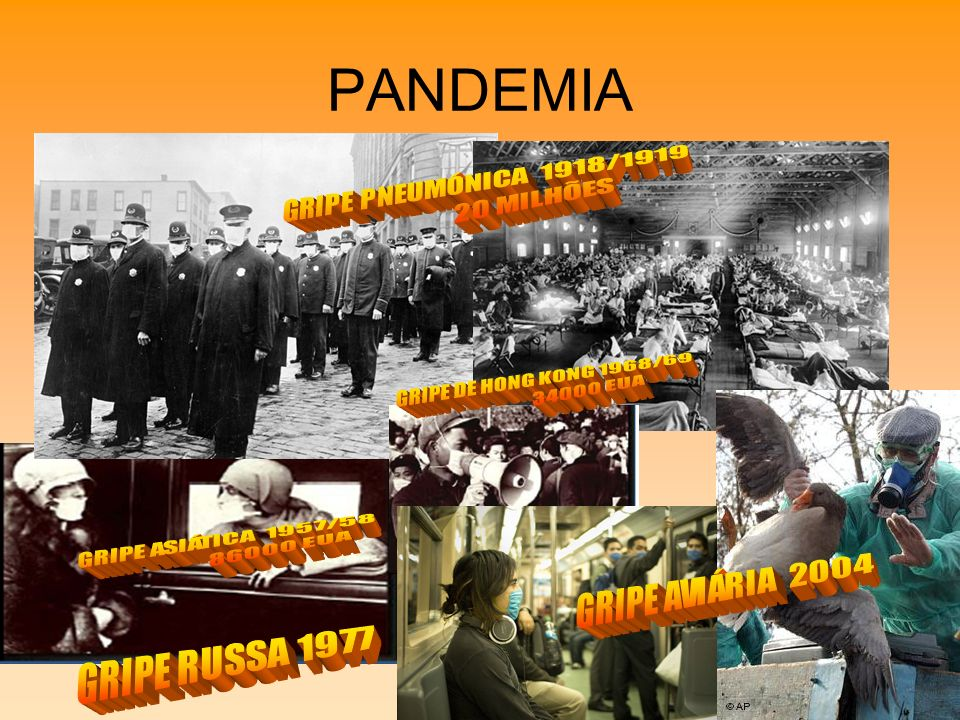 PANDEMIA GRIPE DE HONG KONG 1968/69 34000 EUA GRIPE ASIÁTICA 1957/58