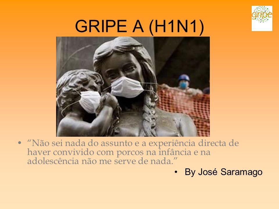 GRIPE A (H1N1) Não sei nada do assunto e a experiência directa de haver convivido com porcos na infância e na adolescência não me serve de nada.