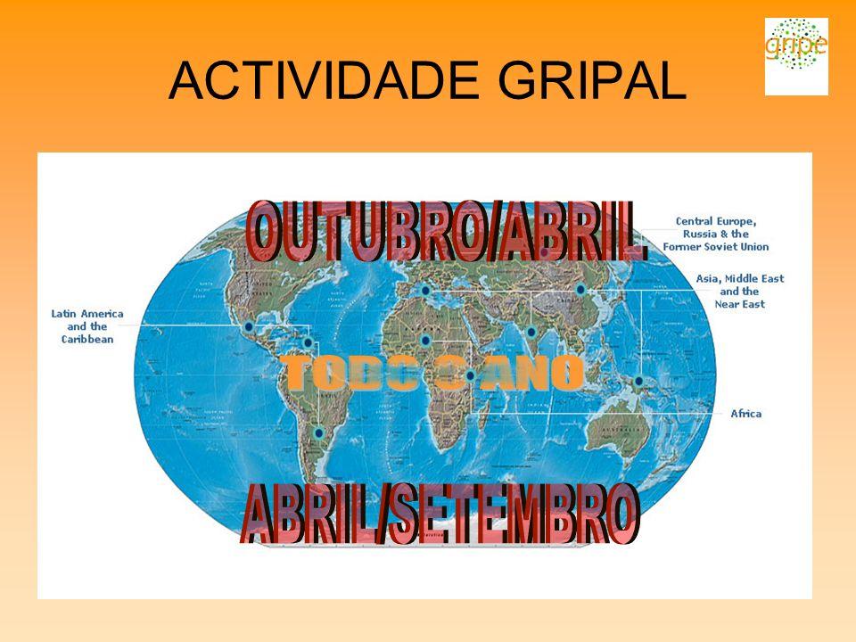ACTIVIDADE GRIPAL OUTUBRO/ABRIL TODO O ANO ABRIL/SETEMBRO