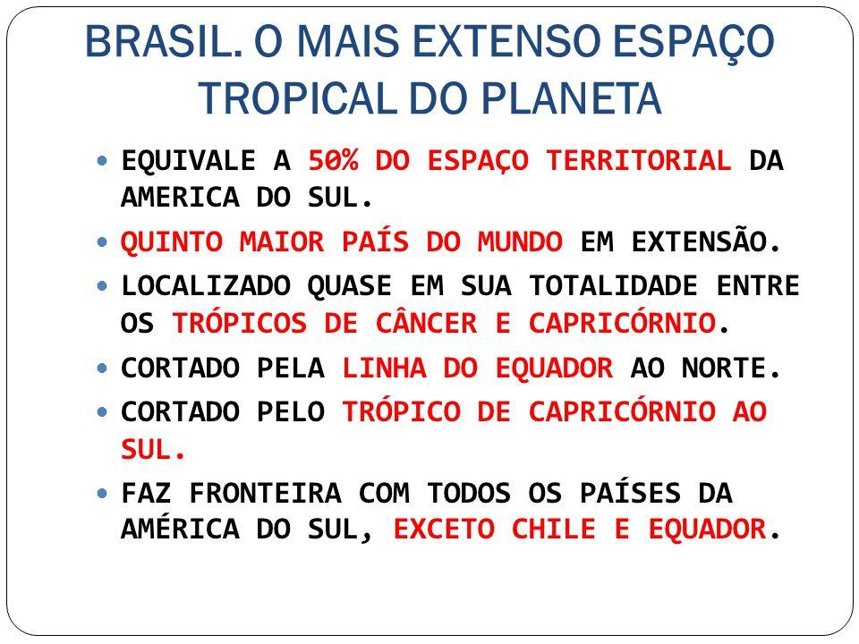 BRASIL. O MAIS EXTENSO ESPAÇO TROPICAL DO PLANETA
