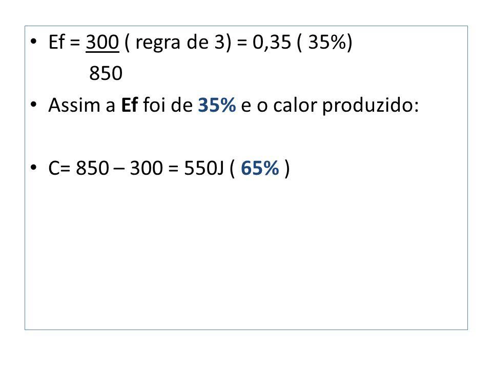 Ef = 300 ( regra de 3) = 0,35 ( 35%) 850.
