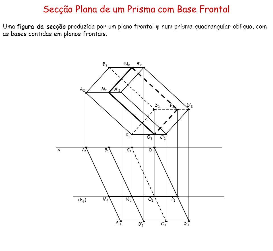 Secção Plana de um Prisma com Base Frontal