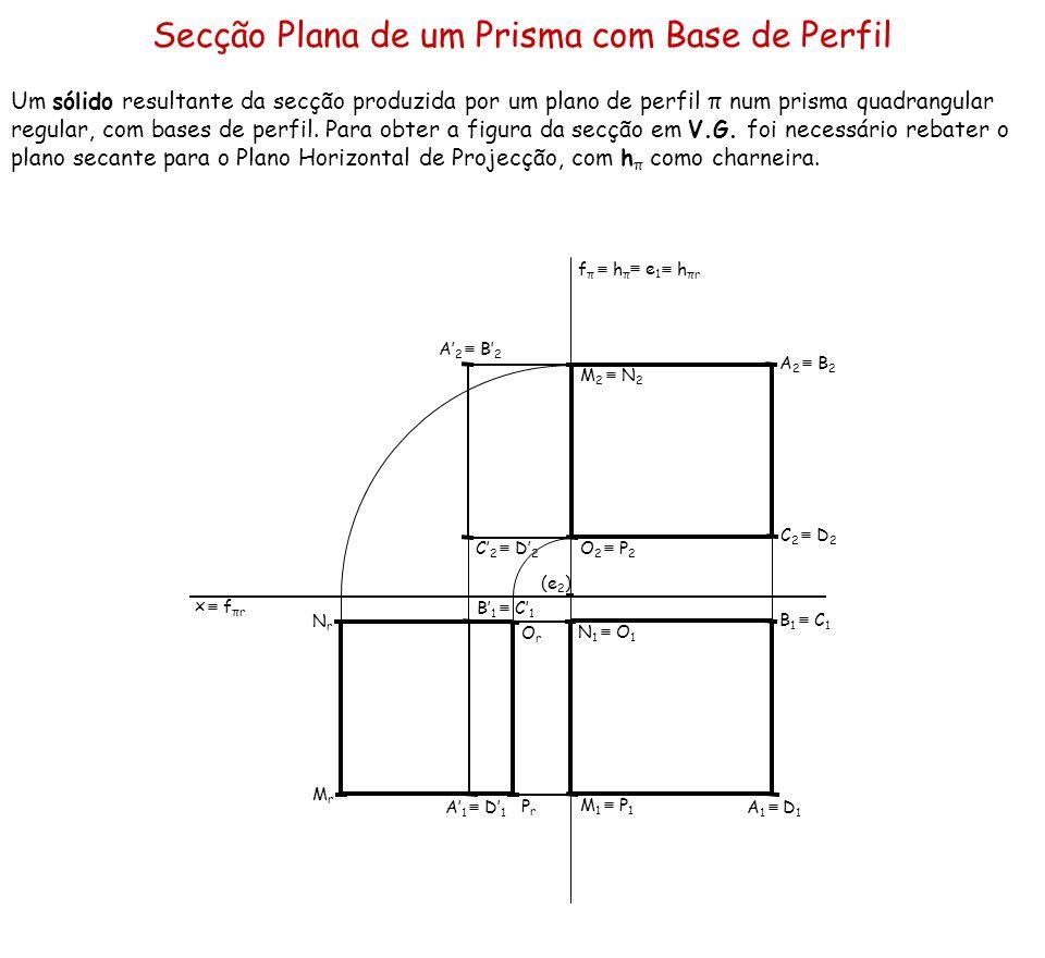 Secção Plana de um Prisma com Base de Perfil