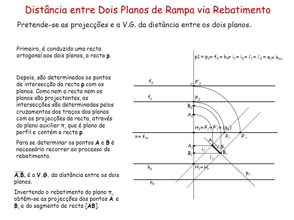 Distância entre Dois Planos de Rampa via Rebatimento