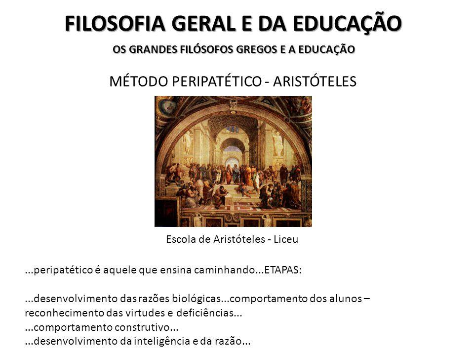 FILOSOFIA GERAL E DA EDUCAÇÃO OS GRANDES FILÓSOFOS GREGOS E A EDUCAÇÃO