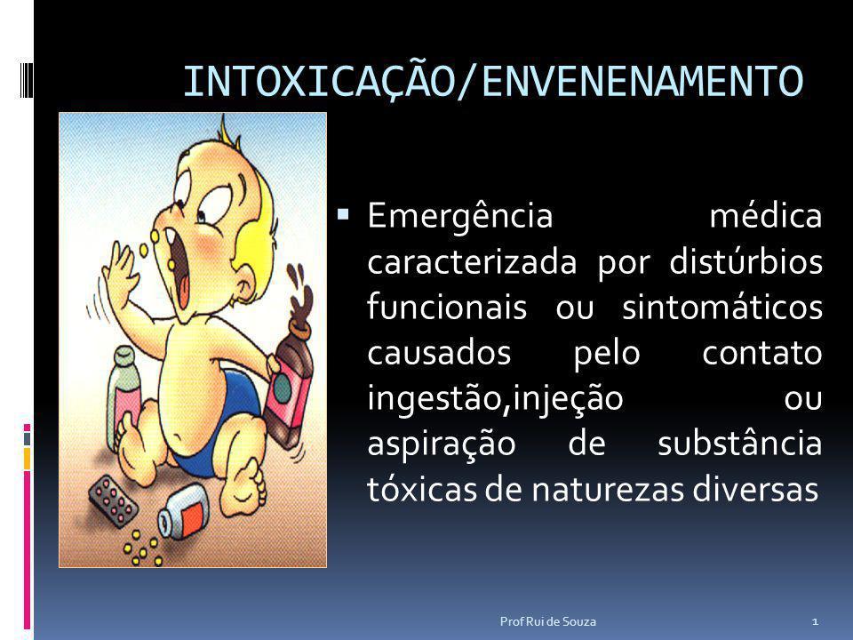 INTOXICAÇÃO/ENVENENAMENTO