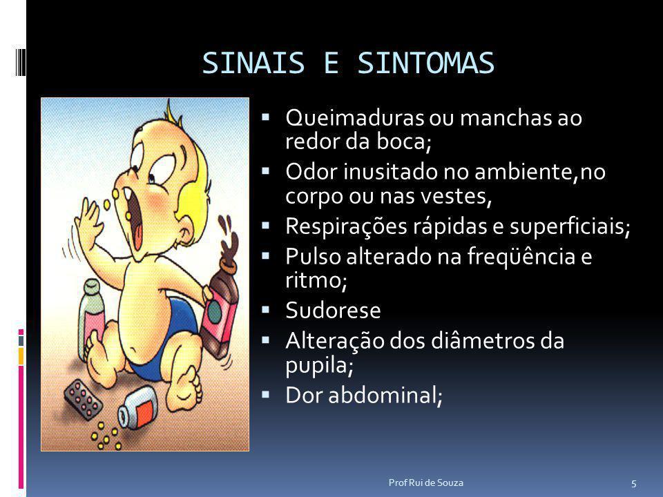 SINAIS E SINTOMAS Queimaduras ou manchas ao redor da boca;
