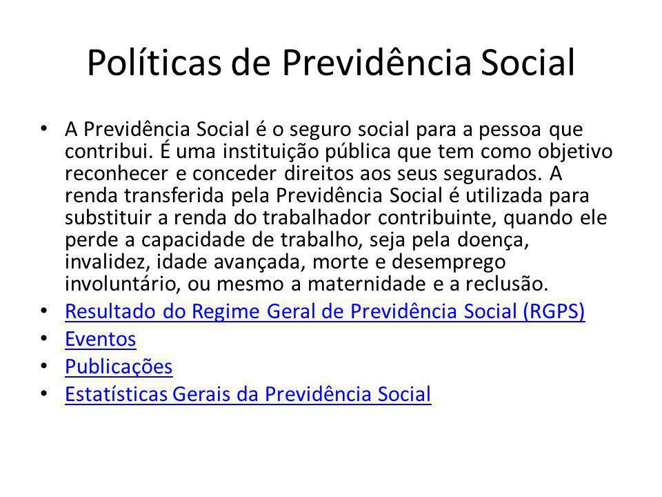 Políticas de Previdência Social