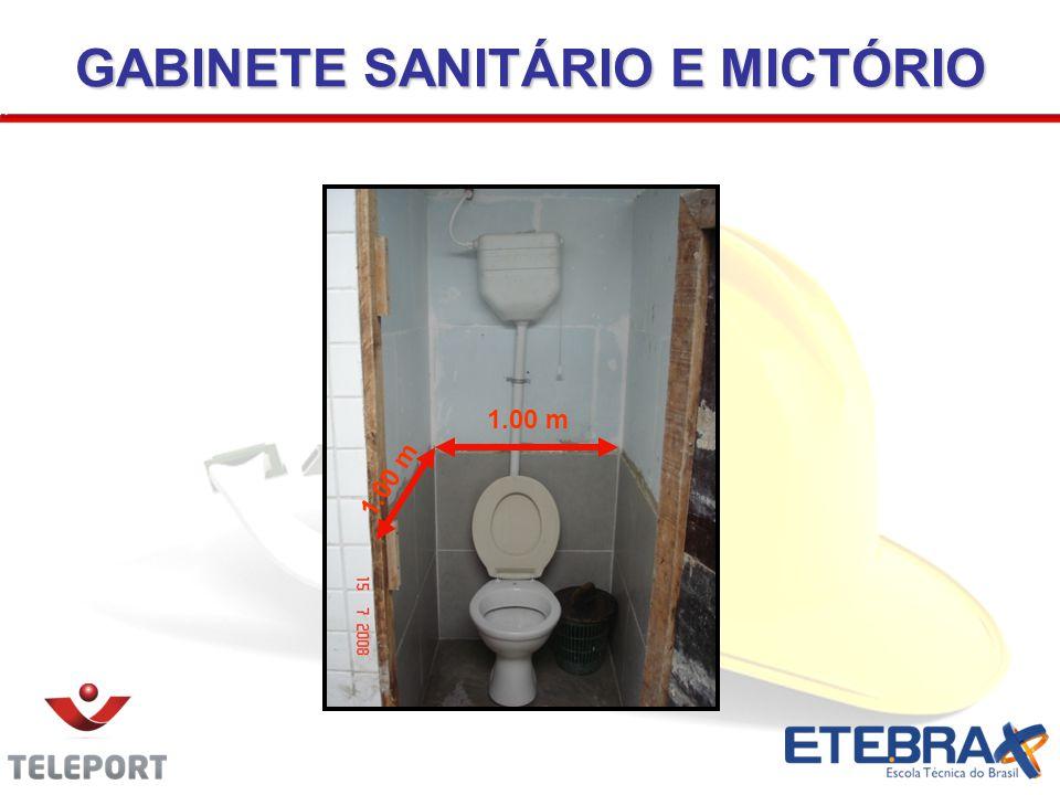 GABINETE SANITÁRIO E MICTÓRIO