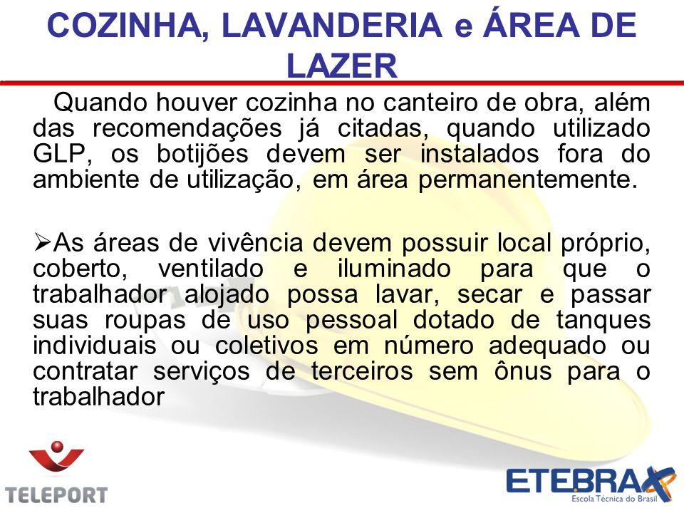 COZINHA, LAVANDERIA e ÁREA DE LAZER