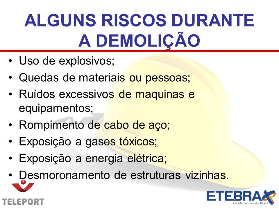 ALGUNS RISCOS DURANTE A DEMOLIÇÃO