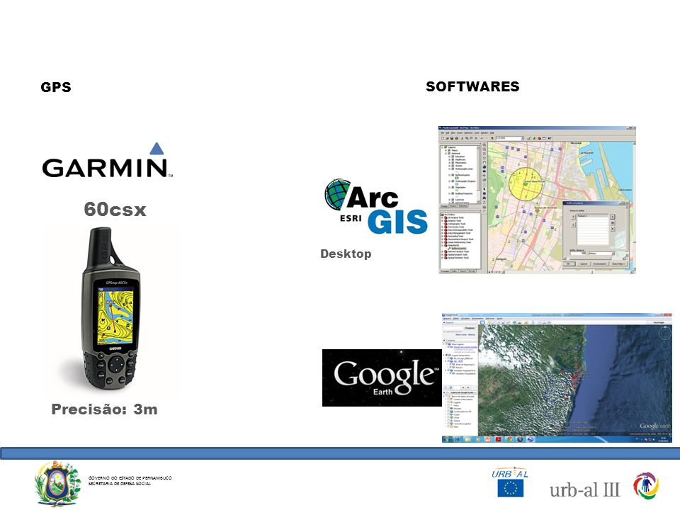 60csx Precisão: 3m GPS SOFTWARES Desktop