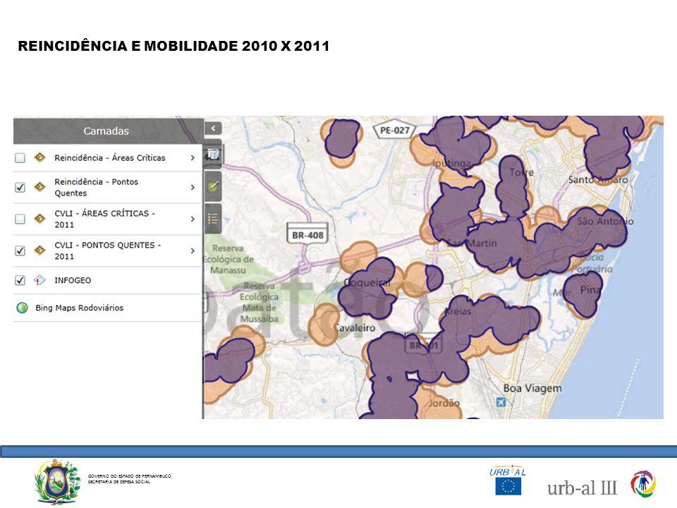 REINCIDÊNCIA E MOBILIDADE 2010 X 2011
