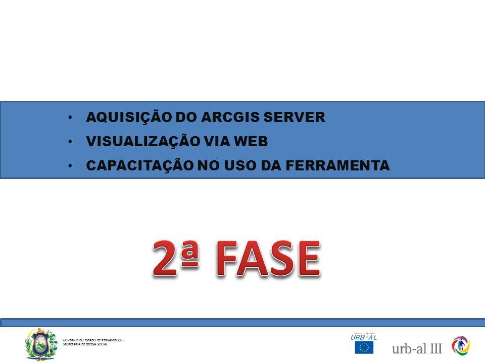 2ª FASE AQUISIÇÃO DO ARCGIS SERVER VISUALIZAÇÃO VIA WEB