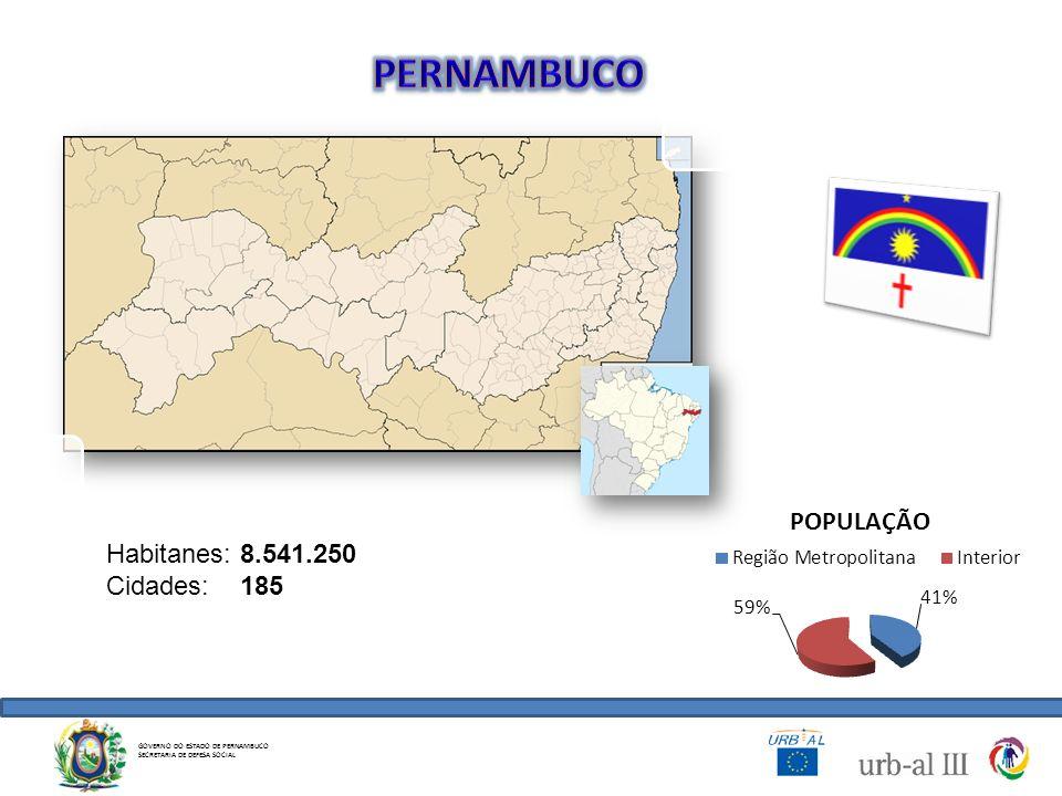 PERNAMBUCO Habitanes: 8.541.250 Cidades: 185