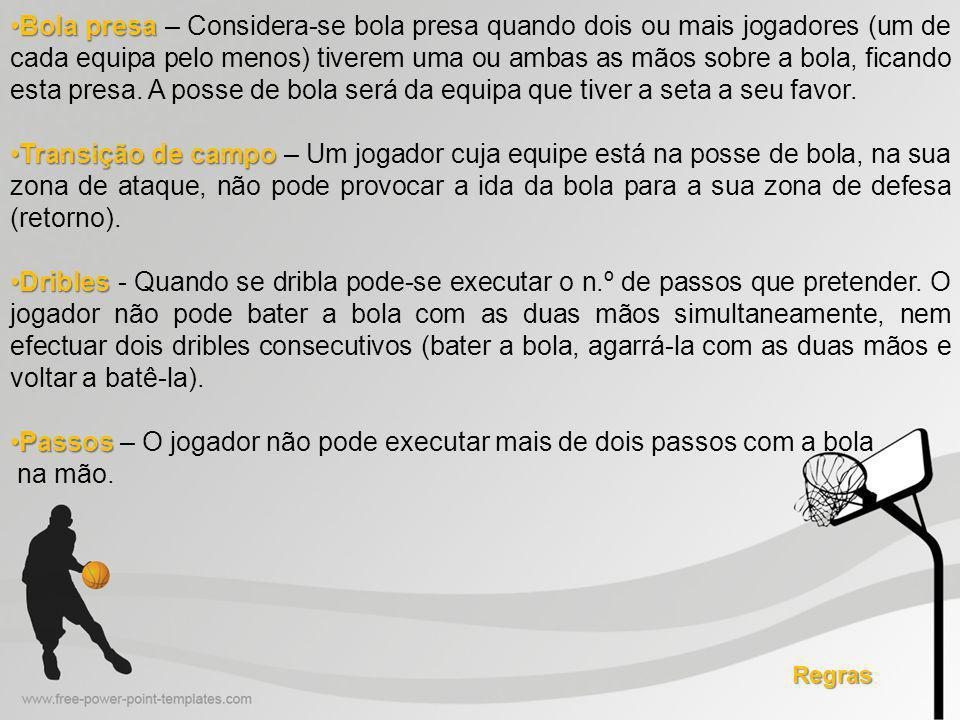 Passos – O jogador não pode executar mais de dois passos com a bola