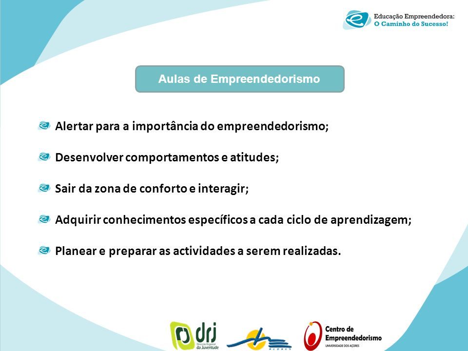 Aulas de Empreendedorismo