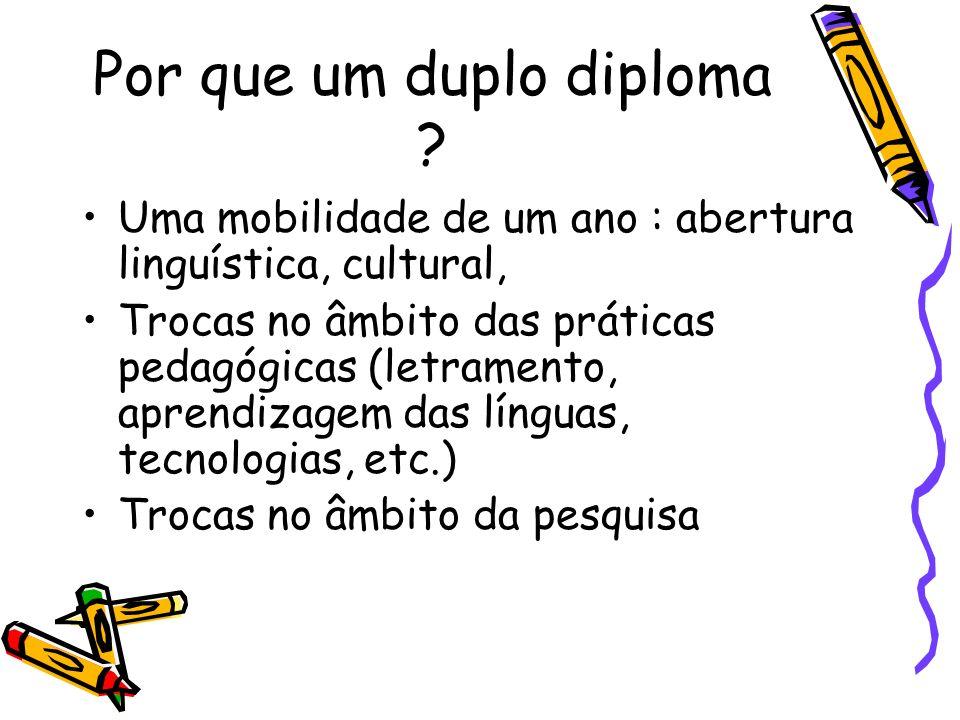 Por que um duplo diploma