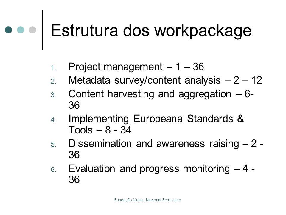 Estrutura dos workpackage