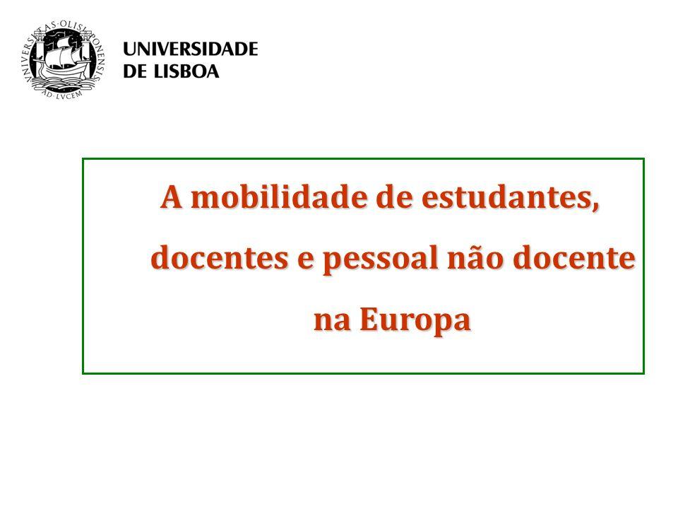 A mobilidade de estudantes, docentes e pessoal não docente na Europa