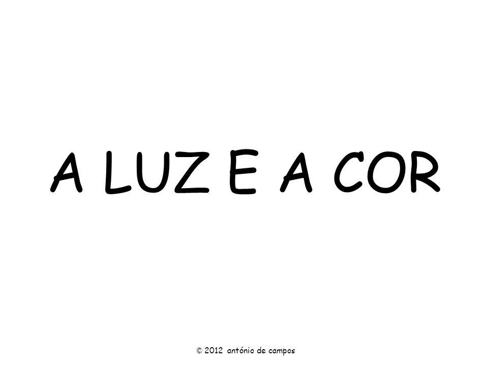 A LUZ E A COR © 2012 antónio de campos