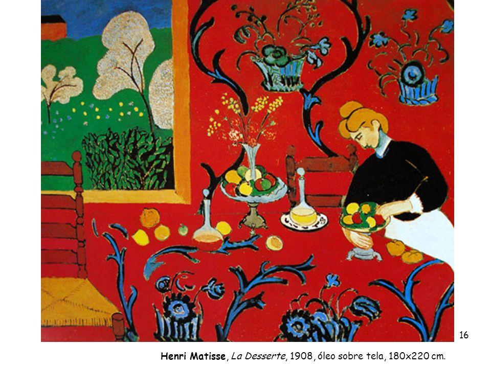 16 Henri Matisse, La Desserte, 1908, óleo sobre tela, 180x220 cm.