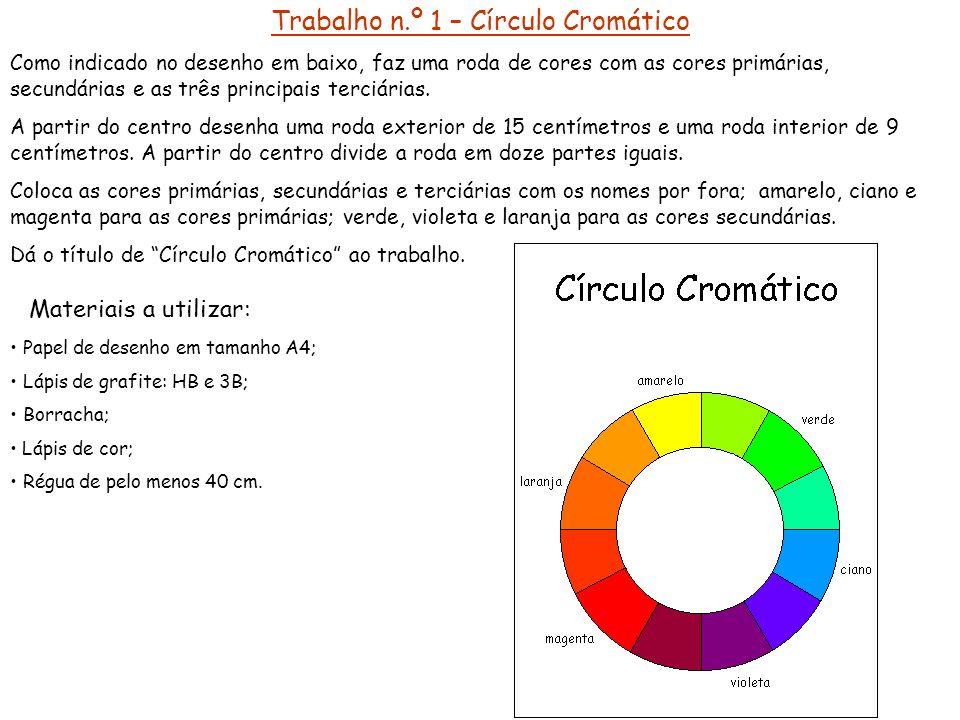 Trabalho n.º 1 – Círculo Cromático
