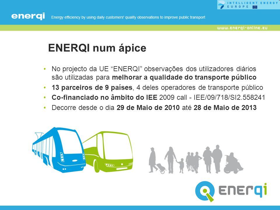 ENERQI num ápice No projecto da UE ENERQI observações dos utilizadores diários são utilizadas para melhorar a qualidade do transporte público.