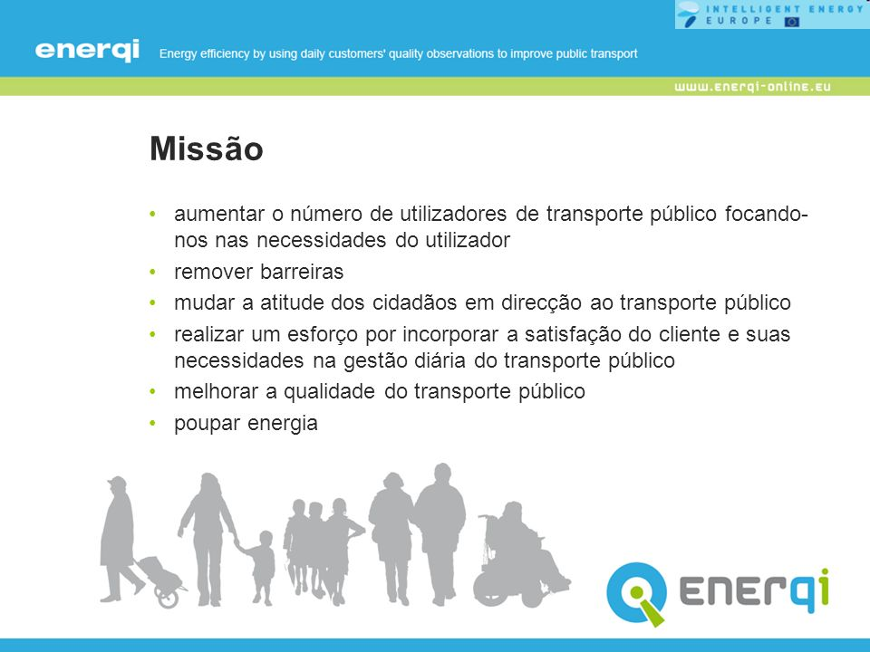 Missão aumentar o número de utilizadores de transporte público focando-nos nas necessidades do utilizador.