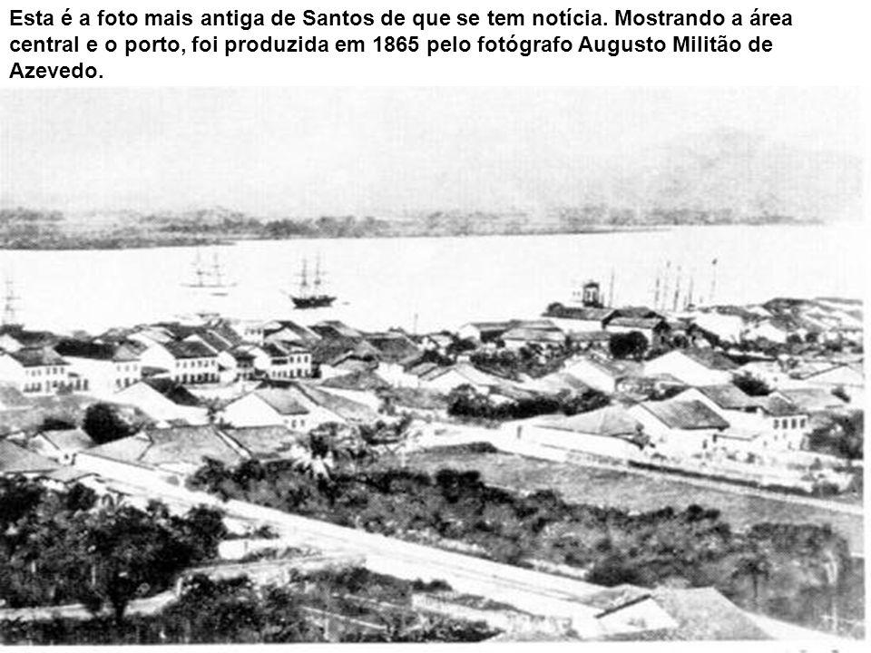 Esta é a foto mais antiga de Santos de que se tem notícia