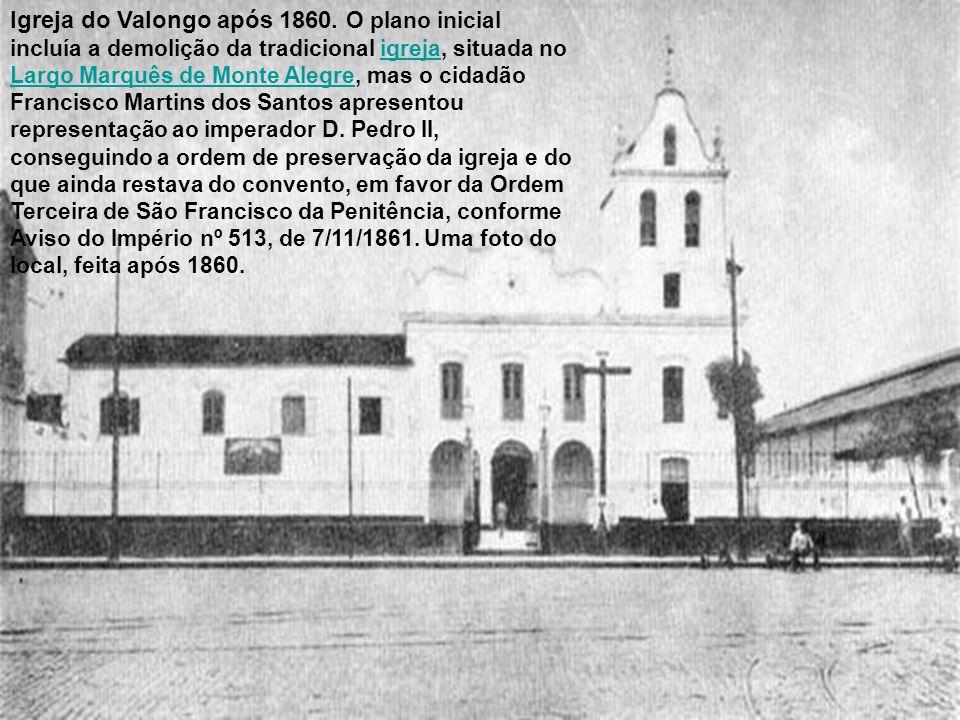 Igreja do Valongo após 1860.