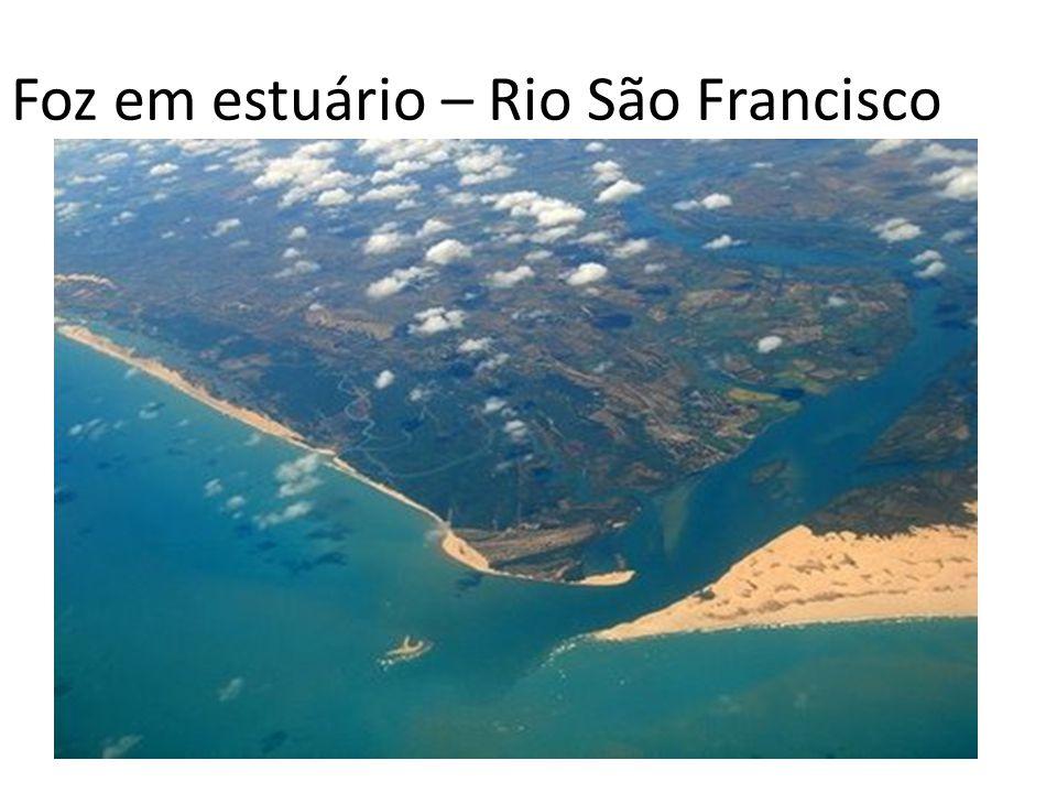 Foz em estuário – Rio São Francisco