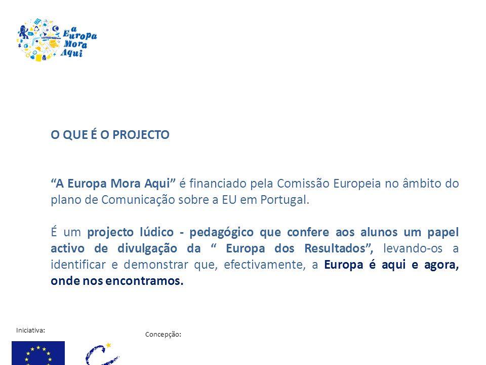 O QUE É O PROJECTO A Europa Mora Aqui é financiado pela Comissão Europeia no âmbito do plano de Comunicação sobre a EU em Portugal.