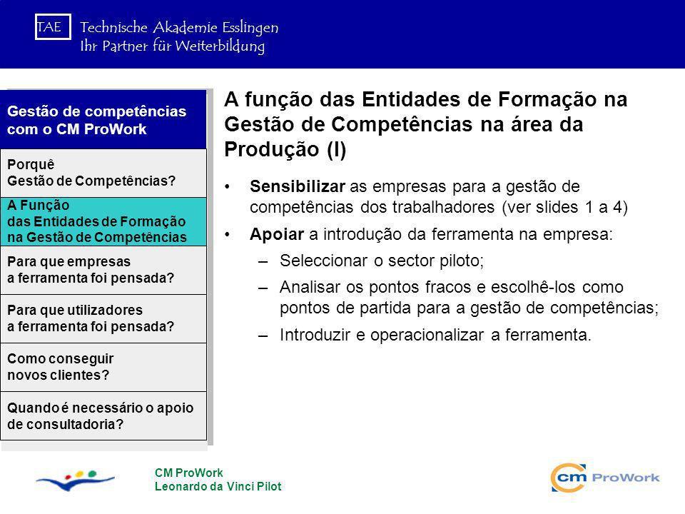 A função das Entidades de Formação na Gestão de Competências na área da Produção (I)