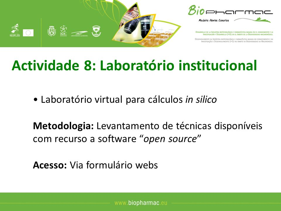 Actividade 8: Laboratório institucional