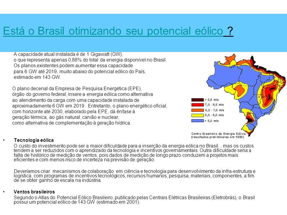 Está o Brasil otimizando seu potencial eólico