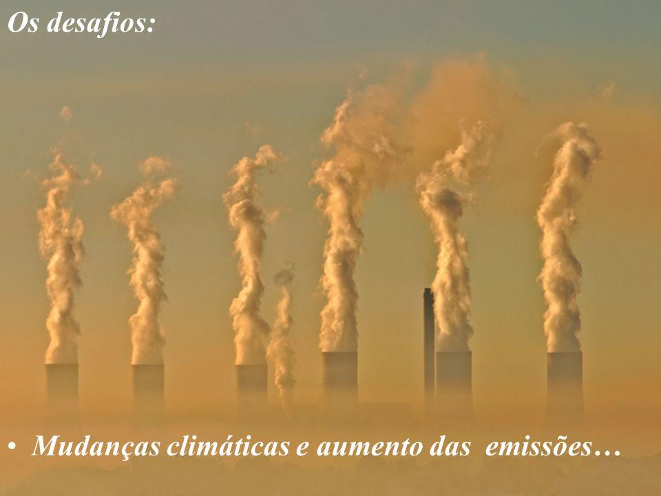 Mudanças climáticas e aumento das emissões…