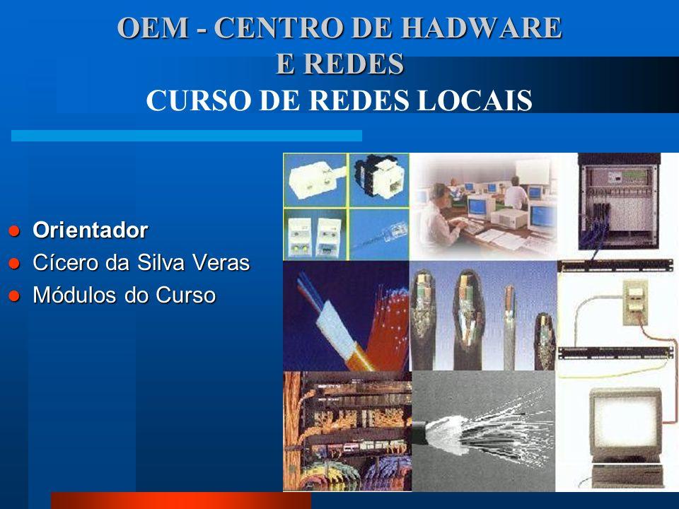 OEM - CENTRO DE HADWARE E REDES CURSO DE REDES LOCAIS
