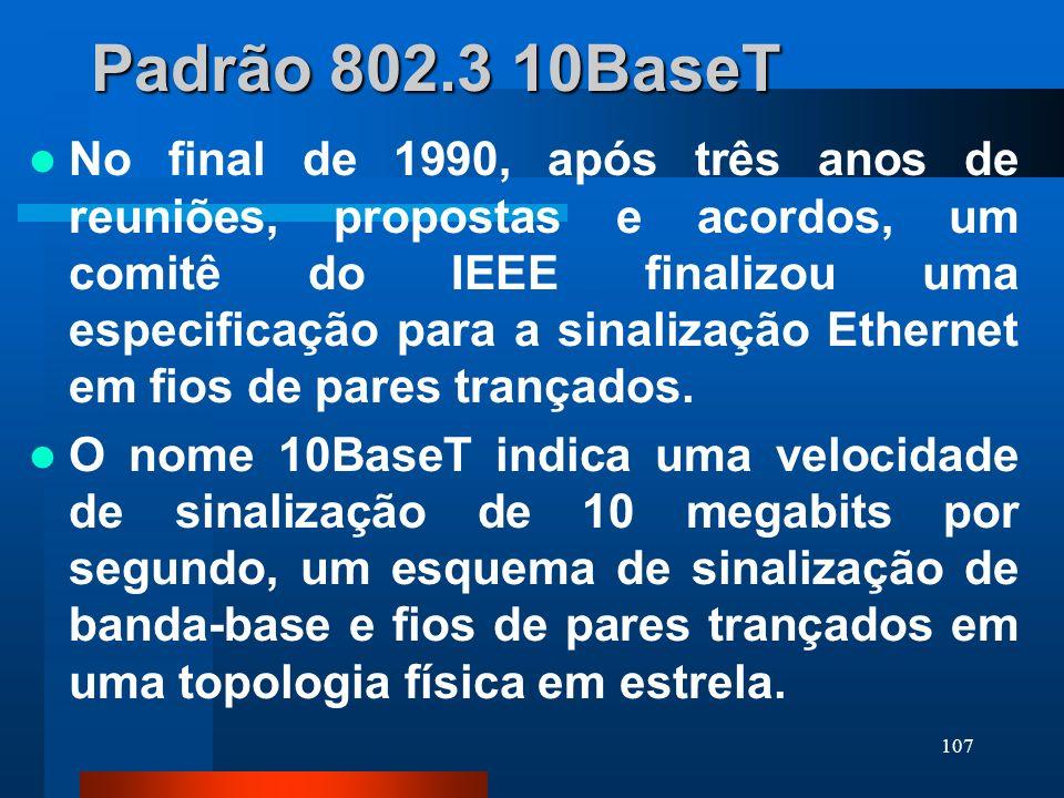Padrão 802.3 10BaseT
