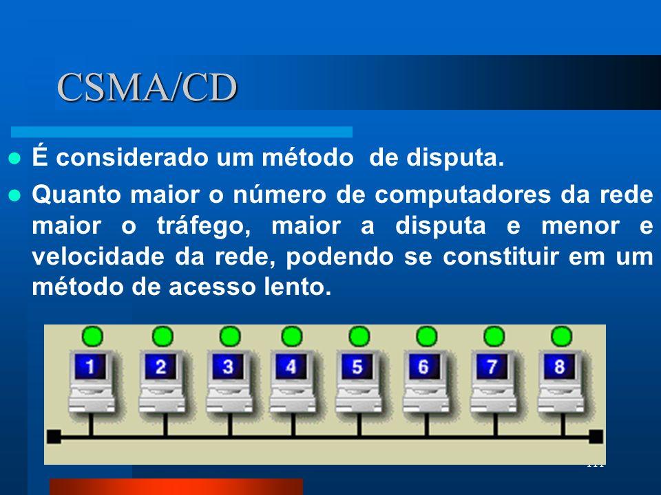 CSMA/CD É considerado um método de disputa.